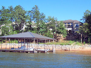 Lakefront home with dock