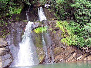 Waterfall on Lake Jocassee