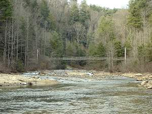Toxaway River at Lake Jocassee