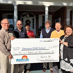 Tamassee DAR School receiving donation from Keowee Key Boating Association