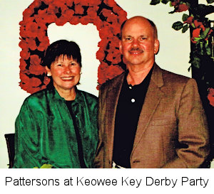 Carol and Doug Patterson at Keowee Key Derby Party